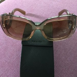 "Prada ""Havana"" colored sunglasses ( brown)."